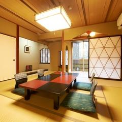 人気の露天風呂付和室でほっこりと☆ 彩り華やか〜和洋中約50種類の旬彩ビュッフェ♪