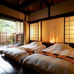 【露天風呂付き離れ客室】陶器露天風呂のお部屋