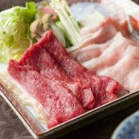 【秋の美食プラン】米沢の味覚と秋を楽しむ料理を堪能〜黒毛和牛と米沢豚の合い盛り×地元梅酒×21H滞在