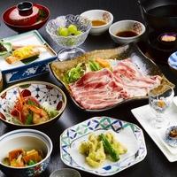 【人気NO3☆山川オリジナル】ここでしか味わえない!「源泉」で味わうブランド豚のしゃぶしゃぶ膳♪