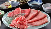 【お肉グレードUP】米沢牛A5ロースを2つの名物料理で堪能★米沢牛の温玉すきやき×源泉しゃぶしゃぶ膳