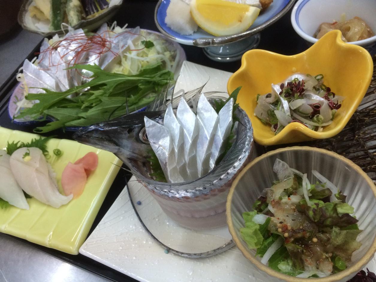 【太刀魚フルコース】地元で獲れた太刀魚のフルコース