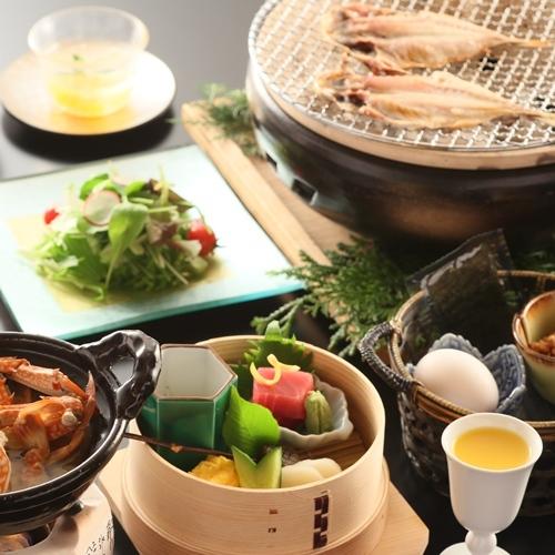 【朝食付き】 かわなのこだわり和食膳付き!4つの貸切露天は利用無料!