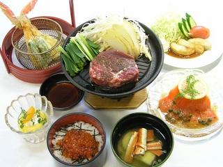 ボリューム感たっぷり★はまなす牛ステーキ御膳【美味旬旅】