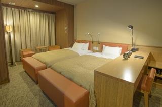 【禁煙】デラックスツイン/ベッド幅120cm×2台/28平米