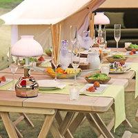 【グランピング】夕食は屋外・朝食はレストランで!グランプBBQ&モーニングプレート