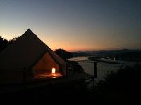 四万十川と水平線!オーシャンフロント絶景グランピング!キャンプ料理セルフクッキング宿泊プラン。
