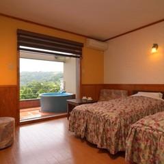 ■ツイン■南向き絶景の露天風呂付客室 【禁煙】