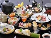 【最上級料理Plan】三大美食を食べつくし☆選べる伊勢海老・鮑踊り焼き・金目鯛煮付【クリスマスにも】