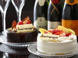 デコレーションスイーツ&シャンパンで記憶に残る一日をサプライズでお祝い!
