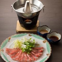 【料理グレードアップ】絶対おいしい!金目鯛のしゃぶしゃぶ&鮑の刺身付きプラン