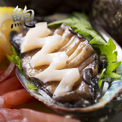 ●はまづる特製グルメ●新鮮アワビは違う!「鮑ステーキ」or「あわび薄造り」お好きな方をチョイス♪