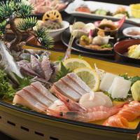 ●はまづるスタンダード舟盛付●能登の美味しい魚を食べてみて!定番プランだけど舟盛付き★
