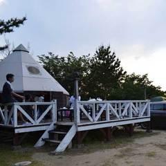 【温泉まで徒歩1分】パオに泊まってキャンプを経験しよう!