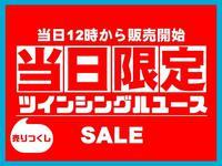 【当日限定】 売りつくしツインシングルユースプラン