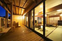 【古民家しゃくなげの間】和室9帖+和装ベッドルーム 露天風呂