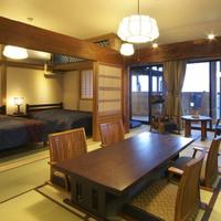 【古民家 あじさい】1階 ベッド付 9畳和室露天風呂付客室