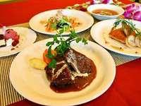 ☆海一望!朝はの〜んびり♪ (1泊夕食付) ディナーは伊勢海老のグリル付!欧風コース料理☆