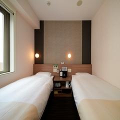■エコノミーツインルーム■禁煙【90cm幅ベッド2台コンハ゜クトツイン♪】