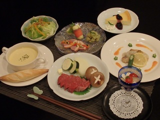 【平日限定】お箸で楽しむ新☆和洋折衷コース料理プラン (1泊2食付)