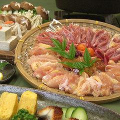 <選べる鍋1>【地鶏すき焼き・牛すき焼き・樫田鍋】お鍋を囲んでわいわい♪