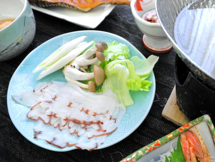 夕食グレードアップ☆プリプリ食感を楽しむ最北のタコしゃぶ付プラン♪(夕朝食付)