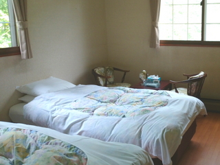 Dコンフォートタイプエアウイーブ付ベッド約10畳角部屋2面窓
