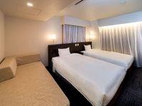 【禁煙】ブティックツイン ベッド幅120cm×2台&ソファ