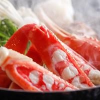 【冬の定番】カニを茹で・刺身・焼き・雑炊 お二人様2.5杯付きのカニフルコース