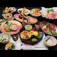 料理長一押し◇贅沢プレミアム会席◇ 山形牛のステーキ&すき焼きで極上のひとときを…