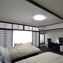 【ワイドツインルーム】120cmセミダブルベッド