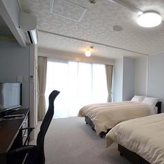 【ツインルーム】120cmセミダブルベッド