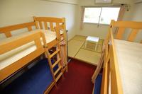 畳付き2段ベットのお部屋でユースホステル・ゲストハウス宿泊体験プラン♪