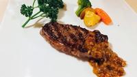【リブロースステーキ】肉本来の旨味のあるグラスフェッドのリブロースステーキ<贅沢ディナープラン>