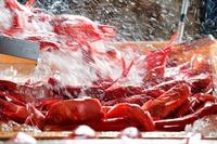 銚子の釣りきんめ姿造りと伊勢海老のご夕食