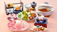 【夕食・朝食付】(飲み放題付)猪豚・黒豚食べ比べしゃぶしゃぶ鍋御膳 5月まで