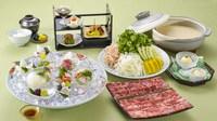【夕食・朝食付】お肉好きなら迷わず2種のお肉を試してみて♪ 『近江大倉和牛』豆乳鍋御膳