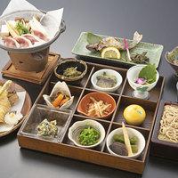 <利賀グルメ>利賀の郷土料理を会席で楽しむ メインは幻の魚イワナと利賀産手打ちそば