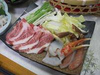 貸切風呂(50分)無料付きイベリコ豚とズワイガニのしゃぶしゃぶプラン