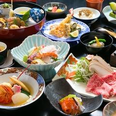 【1泊夕食付】夕食はしゃぶしゃぶ&魚介会席コース!魚釣りの方や朝早い方にもオススメ♪