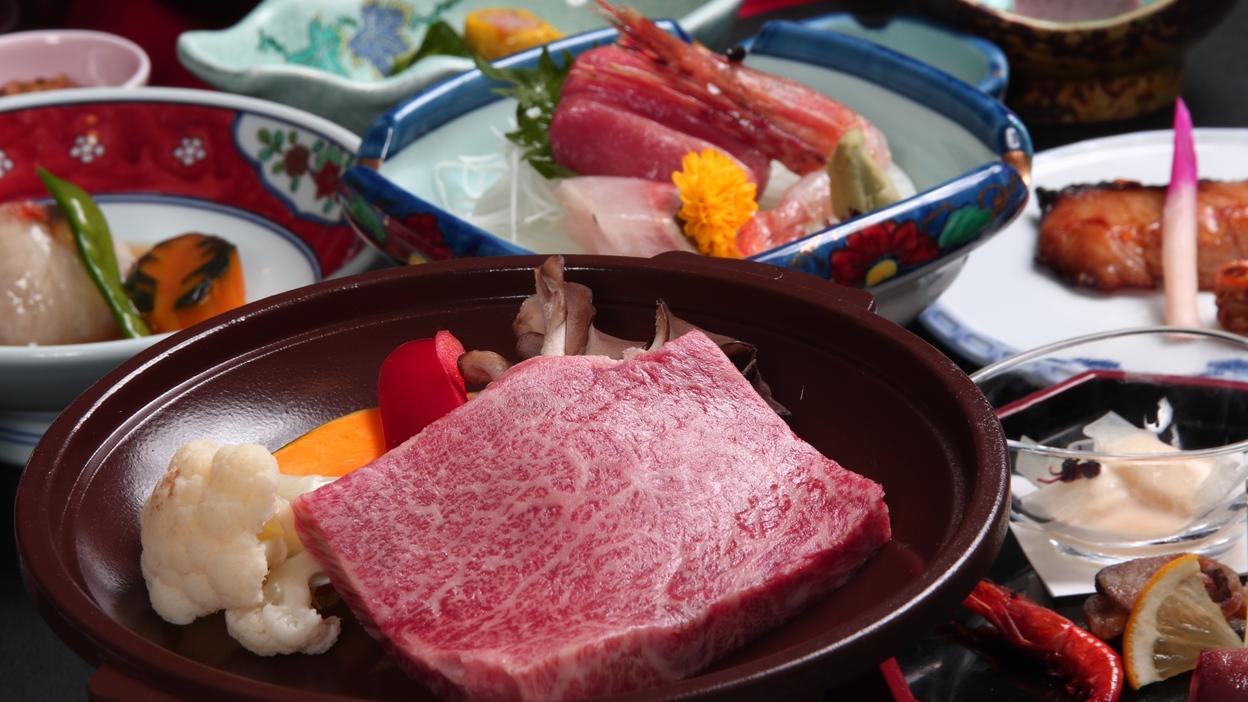 【巡るたび、出会う旅。東北】『幻の銘牛』を陶板ステーキでうま味を堪能♪<倉石牛陶板ステーキ膳プラン>