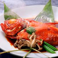 【料理グレードUP】伊勢海老の活き造り&朝獲れ金目鯛の姿煮&の海鮮三昧!