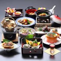 【夕食グレードUP】あわび×島根和牛 厳選島根グルメ!「山海の饗宴会席」