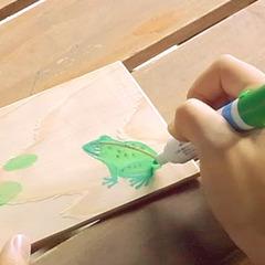 【木はがき作成体験】書いて楽しい!もらって嬉しい!三河杉の木はがきを作ろう※現金特価