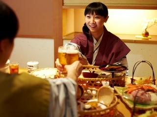 ☆1泊2食和食膳プラン(個室食事処・90分無料飲み放題付)