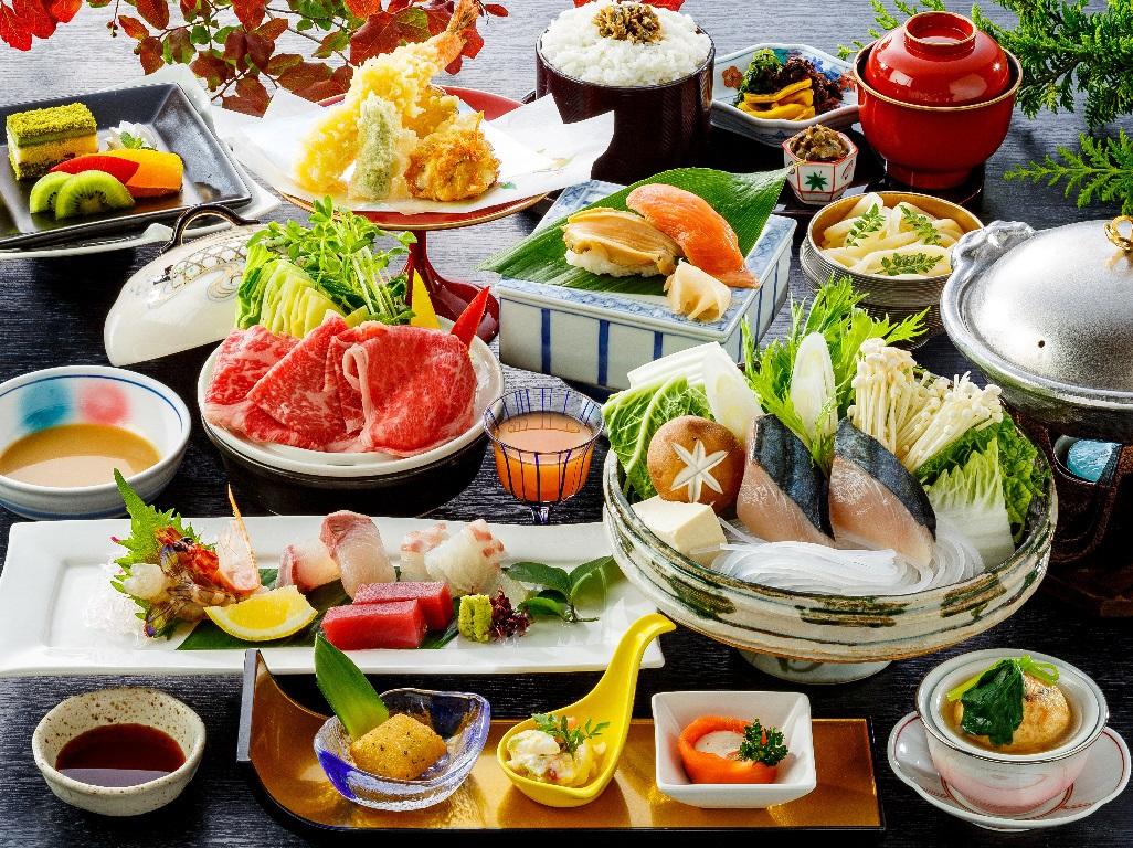 【さき楽21】◆旬彩会席2020年秋冬◆瀬戸内鰆魚すき鍋と香川県産牛の蒸ししゃぶしゃぶ