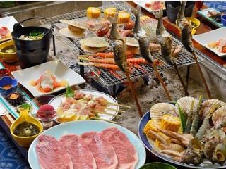 【春夏旅セール】【グレードアップ炭火炉端焼き】食いしん坊大歓迎☆黒毛和牛☆比内地鶏☆ひめます