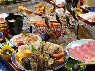 【春夏旅セール】【プレミアム炭火炉端焼き】当館最高峰の贅沢を!豪華食材いっぱい詰め込んだ☆おもてなし