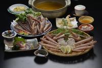 日本海冬の幸、松葉かに御膳プラン