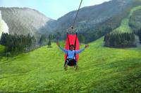 【ジップ・スカイライド】7月1日open!最大時速70kmで絶景を空中散歩♪【1泊2食付き】